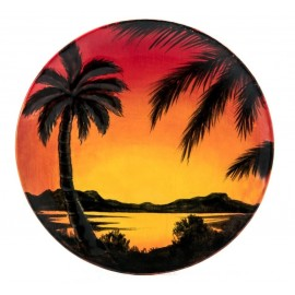 Palm Tree Plate - Case of 6