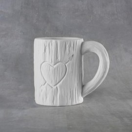 Tree Carved Heart Mug 12 oz.