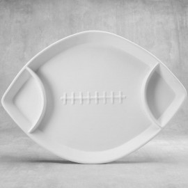 Divided Football Dish - Case of 6