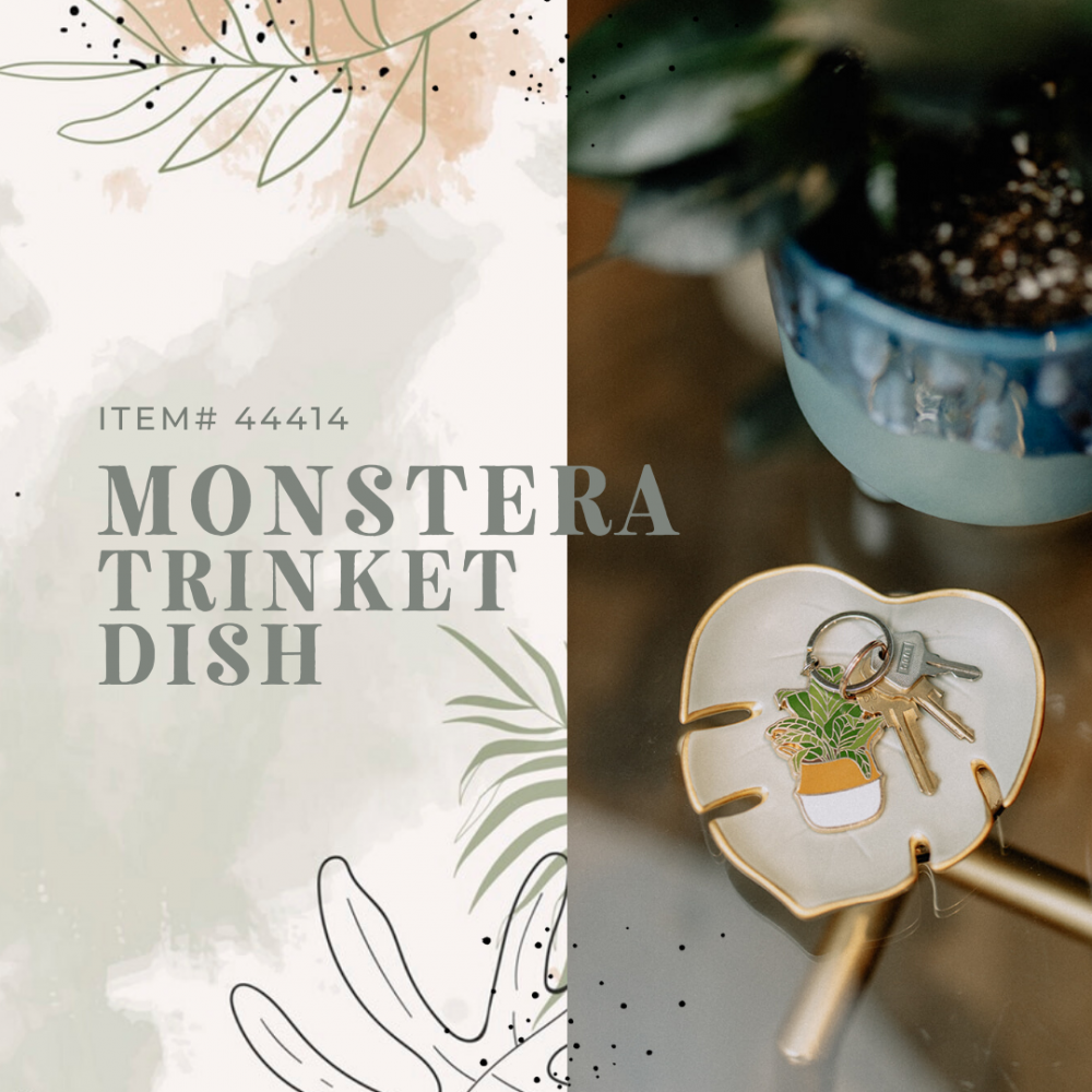 Monstera Leaf Trinket Dish