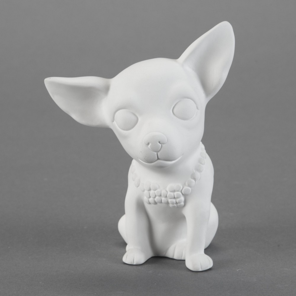 Brewster Chihuahua Bisque Unpainted, ready for glaze