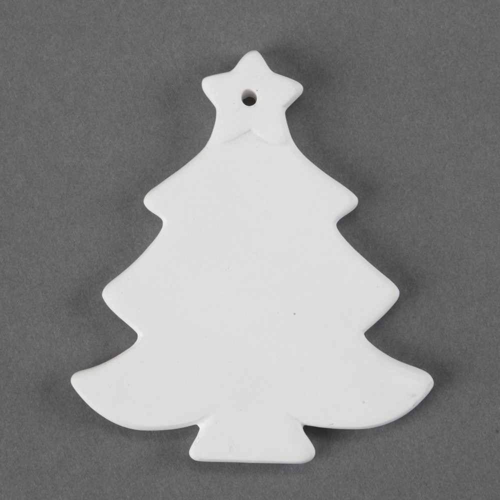 Unfinished Ceramic Bisque Christmas Tree Ornament