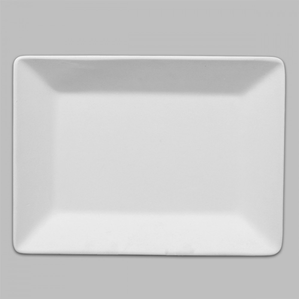 Rectangle Dinner Plate · Rectangle Dinner Plate  sc 1 st  Ceramic Superstore & Ready to paint Ceramic bisque Rectangle Dinner Plate