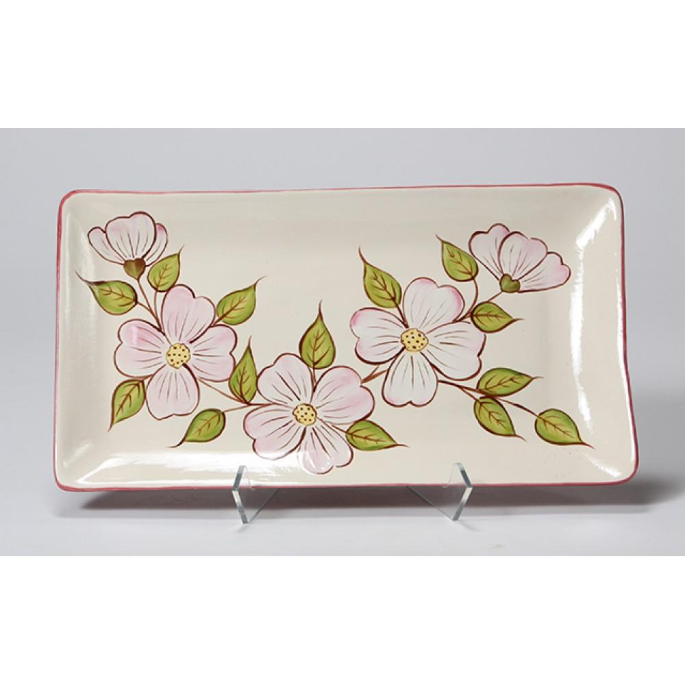 Unpainted Ceramic Bisque Rectangle Tray