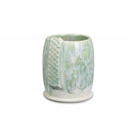 SW-108 Green Tea Over SW-118 Sea Salt Stoneware Combination