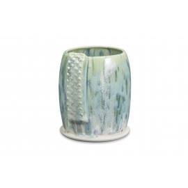 SW-108 Green Tea Over SW-153 Indigo Rain Stoneware Combination