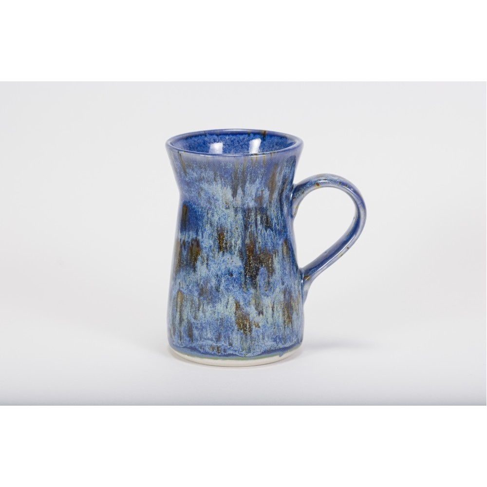 SW-155 Winter Wood Under SW-109 Capri Blue Stoneware Combination