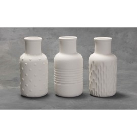 Textured Bud Vases  (asst of 3) - Set
