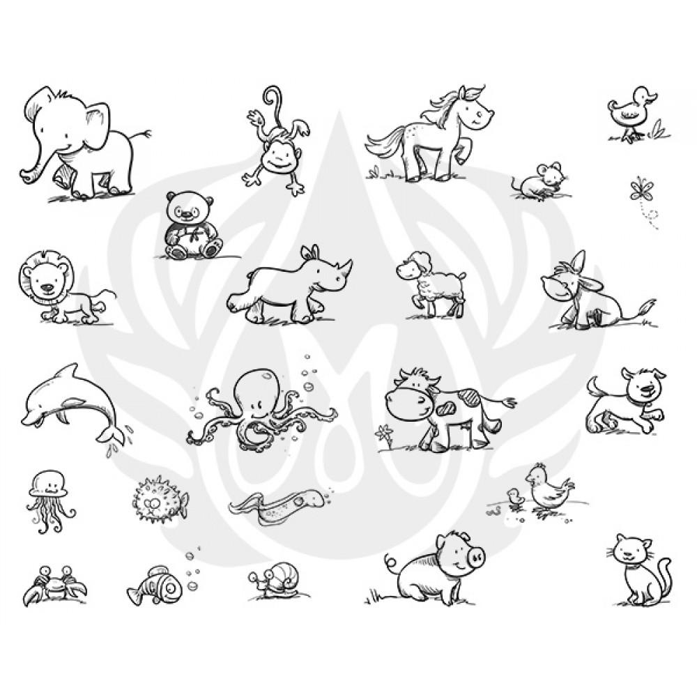 Cutesy Animals Designer Silk Screen
