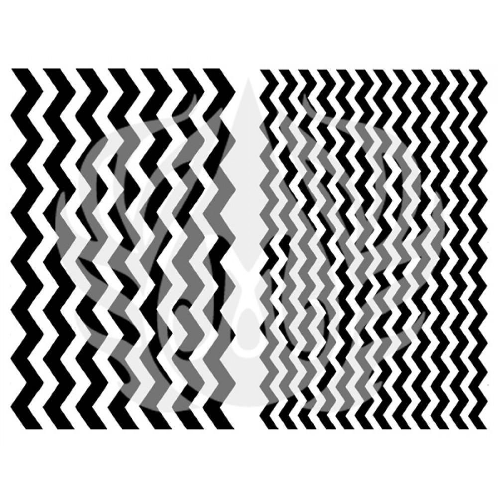 Chevron Pattern - Designer Silk Screen