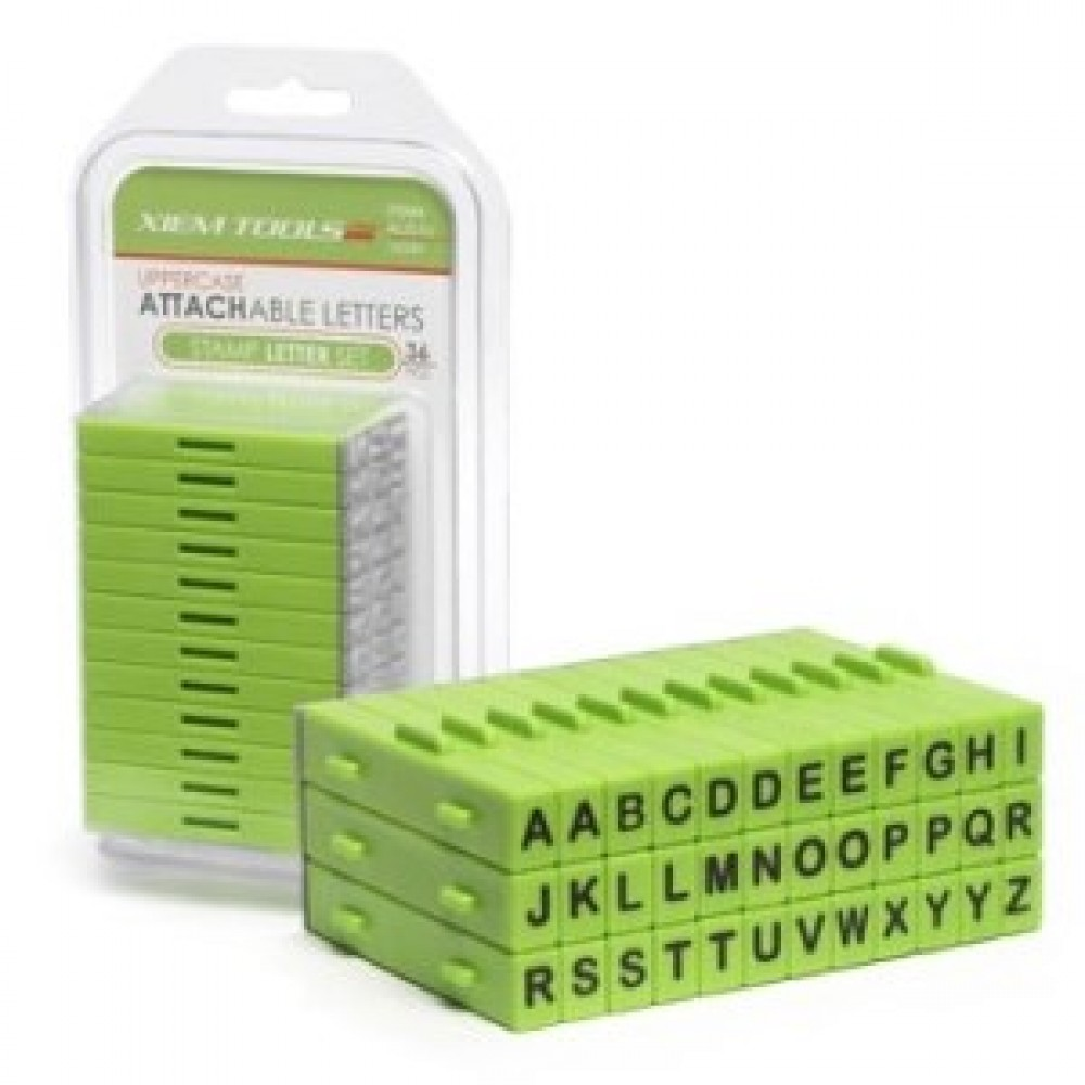 Attachable Letter Stamp Set-36 upper Case