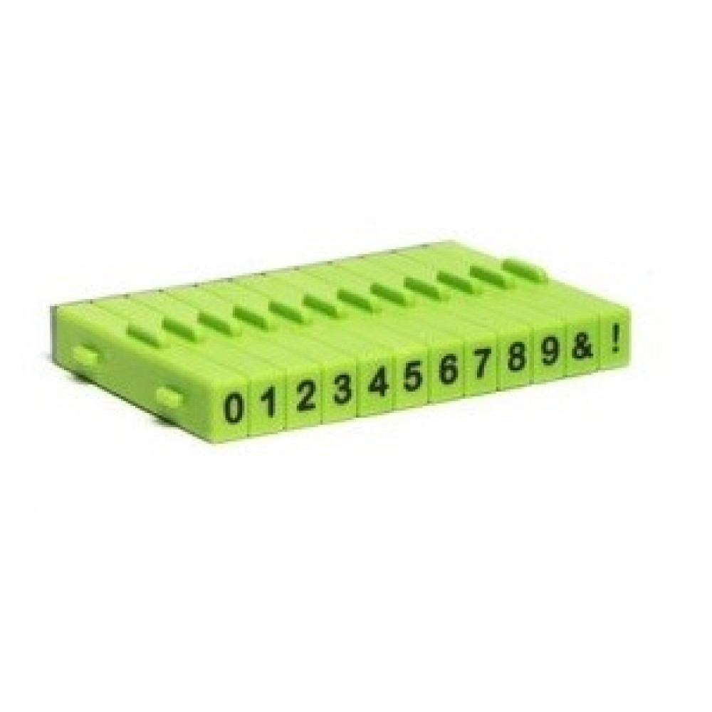 Attachable Numbers Stamp Set - 12 pcs